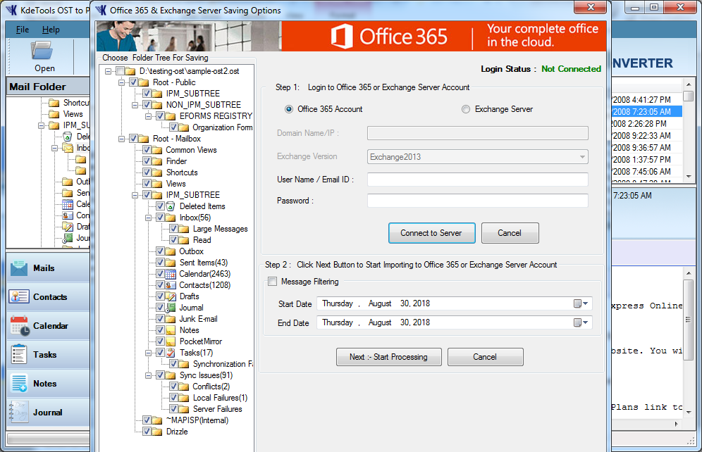 OST to Office 365