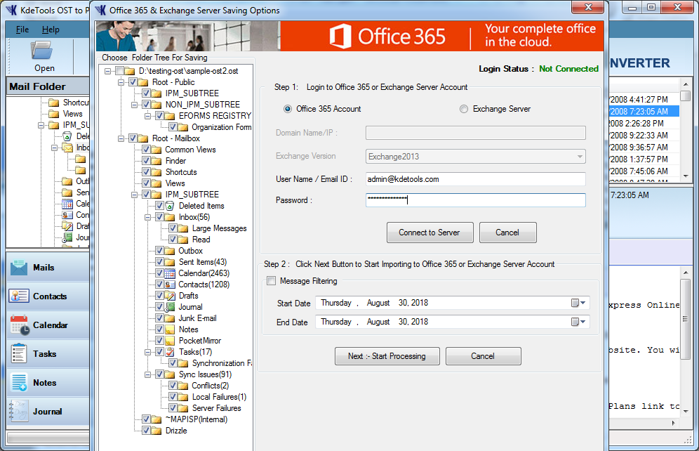 OST to Office 365 Option